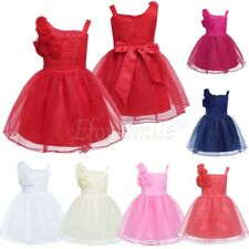 Flower Girl Princess Dress New Baby Party Wedding Pageant Formal Dresses Clothes