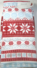 Set of 2 Bella Lux  Holiday Kitchen Towels Assorted Snowflakes  100% Cotton