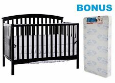 Convertible Crib with BONUS Mattress 5 in 1 Toddler Bed Full Size Furniture New