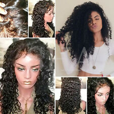 Remy Unprocessed Brazilian Virgin Human Hair Natural Hairline With Baby Hair 1B