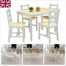Modern Dining Table and 2 Chairs / 4 Chairs Bench Set Wooden Kitchen Furniture W