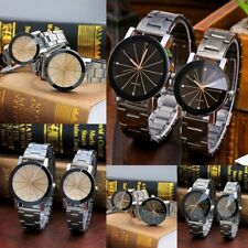 Couple Quartz Watch Men Women Stainless Steel Bracelet Strap Fashion Wristwatch