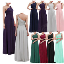 Formal Long Chiffon Bridesmaid Dress Lady Evening Party Cocktail Prom Gown Dress