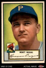 1952 Topps #12 Monty Basgall Pirates EX