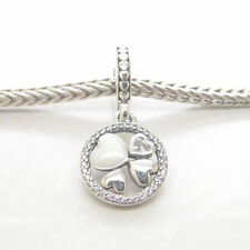 Genuine Authentic S925 Sterling Silver Hearts of Love Pendant Dangle Charm