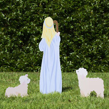 Outdoor Nativity Store Outdoor Nativity Set Add-on - Shepherd and Sheep (Color)
