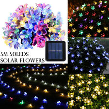 50 LED 5M Solar Powered Fairy String Lights Xmas Party Garden Wedding Decor