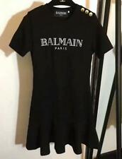 Fashion Women's Fashion balmain Letters 3 Color Buttons Casual Dress New S-XL