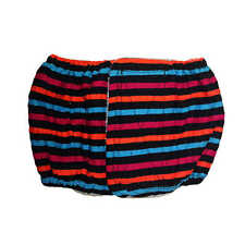 Male Dog Diaper - Made in USA - Stripes on Black Washable Dog Belly Band Male...