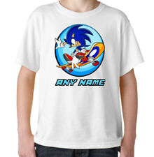 SONIC Boys T-shirt crew neck size Personalised 100% Cotton