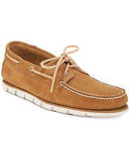 Men Casual Shoes Timberland Moccasins Loafers Hommes Full Grain Leather Tan