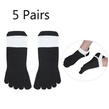 NEW 5 Pairs Ankle Low Cut Socks Toe Separated Socks for Men&Women Sneakers Shoes