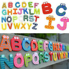 26pcs Letters 10 Numbers Kid Wooden Alphabet Fridge Magnet Child Educational Toy