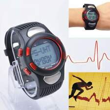 3D Pulse Heart Rate Monitor Calories Counter Pedometer Sport Watch Waterproof OE
