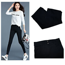 Womens Leggings Slim Jeggings Trousers Skinny Stretchy Denim Jeans Black