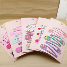 6pcs/set Cute Hair Clips Snaps Hairpin Girls Baby Kids Hair Bow Accessories Gift
