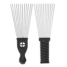1x Pro Salon Hair Styling Tools Hairdressing Cutting Steel Barber Brush Comb