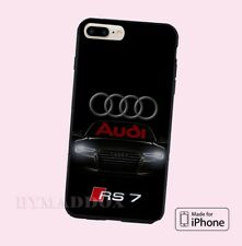 New Audi Logo S RS 7 Black Logo 2017 Print On CASE Cover iPhone 6s/6s+/7/7+/8/8+