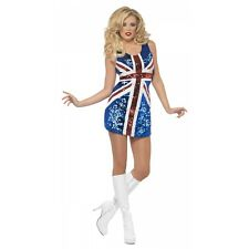 Union Jack Dress Adult Sexy British Flag Costume Go Go Dancer Fancy Dress Outfit