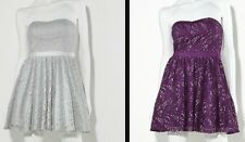 PRINCESS VERA WANG FOIL LACE  DRESS - JUNIOR SIZE  9 OR 11- GREY OR PURPLE -NWT!