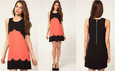New LIPSY Celebrity BNWT £50 Scallop Shift Tunic Party Evening Club Skater Dress
