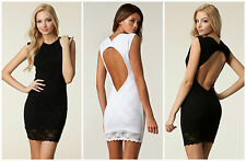 BNWT HONOR GOLD Lace New £50 Bandage Bodycon Club Backless Mini Party Dress SALE
