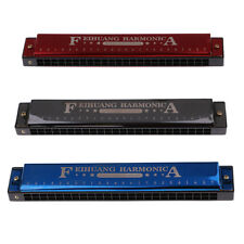 MagiDeal Adult Harmonica 24 Holes Key C Mouth Ogan Wind Musical Instrument