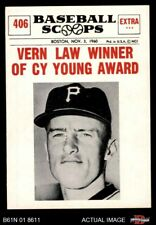 1961 Nu-Card Scoops #406  Vern Law  - Vern Law Winner of Cy Young Awa Pirates NM