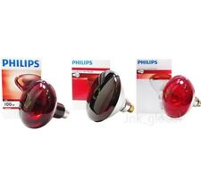Philips Infrared Heat Light Lamp E27 Bulb 100W 150W 250W (230V) Physiotherapy