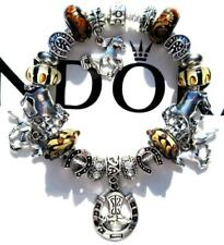 Authentic PANDORA Silver Charm Bracelet with Charms HORSE WHISPERER EE92