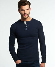 New Mens Superdry Heritage Grandad Top Eclipse Navy Marl