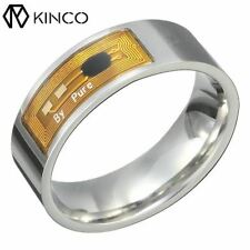 Silver Gold 7/8/9/11/13 NFC Multi-functional Waterproof Tag Smart Magic Ring Wea