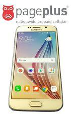 Unlocked Pageplus Samsung Galaxy S6 - 32GB - 4G LTE - UNLIMITED DATA WITH SIM