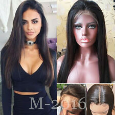 Glueless Full Lace Wig Malaysian Virgin Hair Lace Front Human Hair Wig Off Black