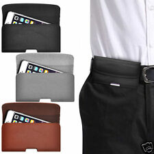 Horizontal PU Leather Pouch Belt Clip Case For HTC HD7S