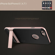 Original Rock Shockproof Hybrid Stand Hard Bumper Soft Case Cover Fr iPhone 6/6s