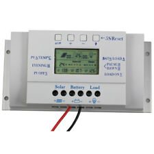 10/20/30/40A LCD Solar Panel Battery Regulator Charge Controller PWM 3 Timer MT