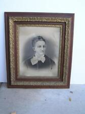 "Antique 1899 Portrait of Women in Large Oak Gold Gilt insert FRAME 25"" x 30"""