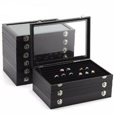 ANFEI 9 Style Black Leather Display Box Jewelry Stand Jewellery Earrings/Neck...