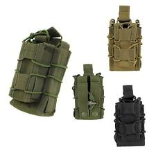 Tactical Molle  Open Top Double Decker Single Rifle Pistol Mag Pouch