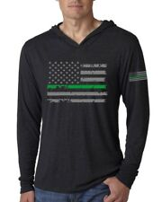 Next Level Thin Green Line Tri Blend Hooded Long Sleeve