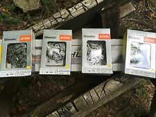 1 New Stihl  ES Pro Chainsaw Bar Plus 5 RSF 20 In 72 Link Skip Chains  Yellow