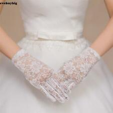 Women Wedding Party Evening Lace Floral Gloves Bridal Gloves Sunscreen E45B