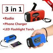 Hand Crank Generator Wind Up Solar Rechargeable Light AM/FM/PM Charger Lot IS
