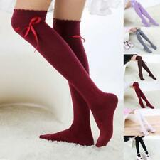 Fashion Women Over Knee High Temptation Stretch Lace Hight Tube Warm Socks Hot