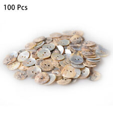 50、100Pcs 2 Holes Coconut Shell Buttons Sewing Mixed Buttons Scrapbooking 15mm