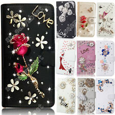 Girly Case Bling Diamond Rhinestone Wallet Stand Leather Cover For Samsung