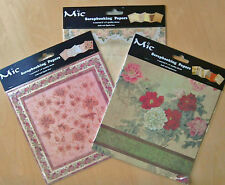 MIC Scrapbooking Papers - Pack of 6 assorted sheets. Acid and lignin free.