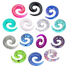 9pairs Acrylic Carved Snail Spiral Taper Ear Plugs Ear Expander Stretcher Gauges