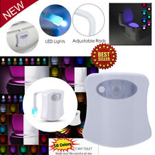 Bathroom LED Toilet Nightlight 16 Colors LED Motion Sensor Activated Seat Lamp